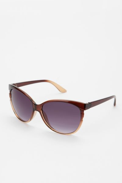Striped Cat Eye Sunglasses