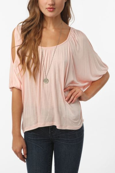 Daydreamer LA Cold Shoulder Oversized Tee