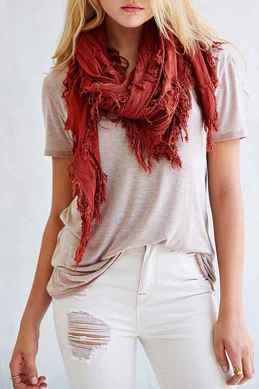 Deena & Ozzy Shredded Square Scarf