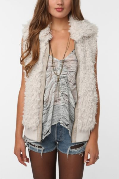 Staring at Stars Faux Fur Vest