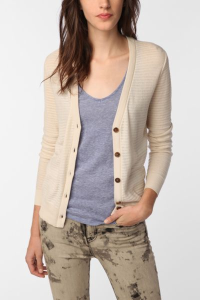 BDG Drop Stitch Classic Cardigan