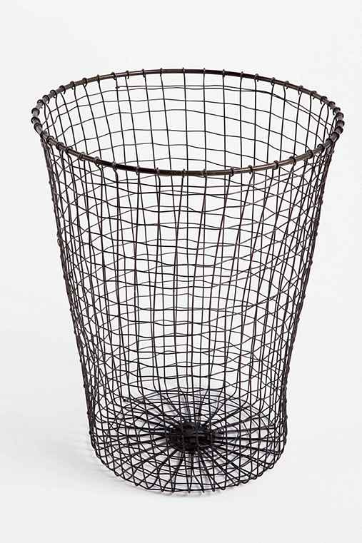 Woven Wire Trashcan