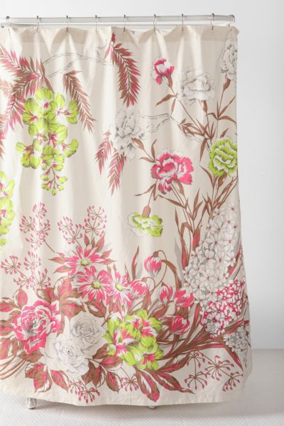 Neon Flower Shower Curtain