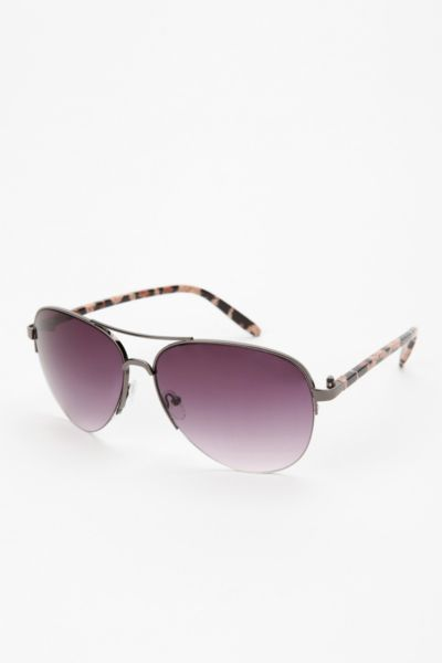 Printed Arm Aviator Sunglasses