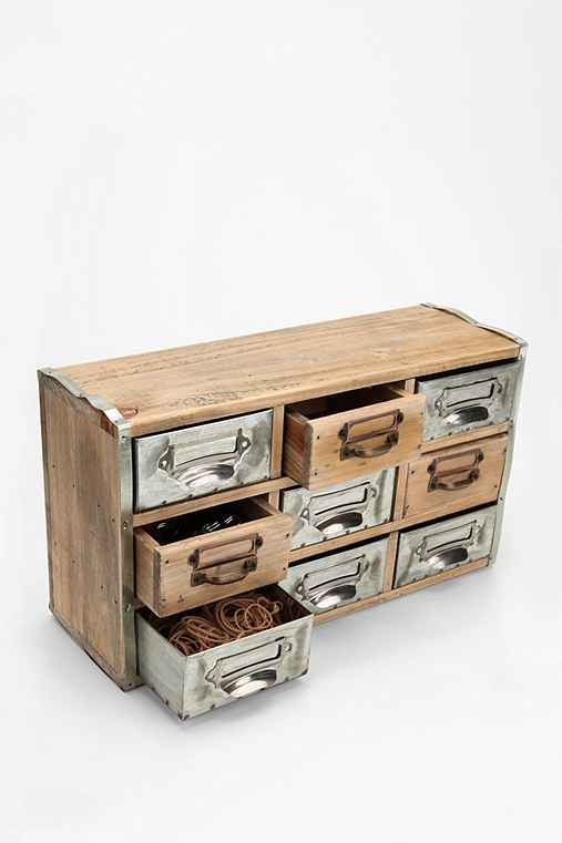 Thumbnail image for Reclaimed Card Catalog Organizer Cabinet