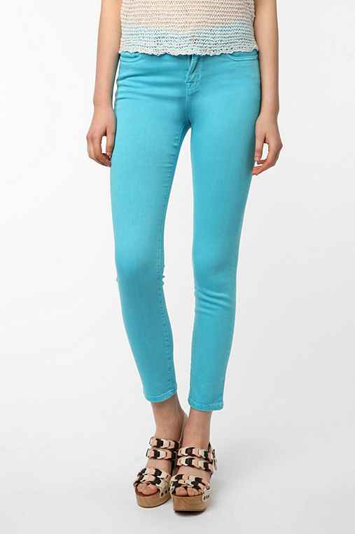BDG Cigarette High-Rise Jean - Teal Blue