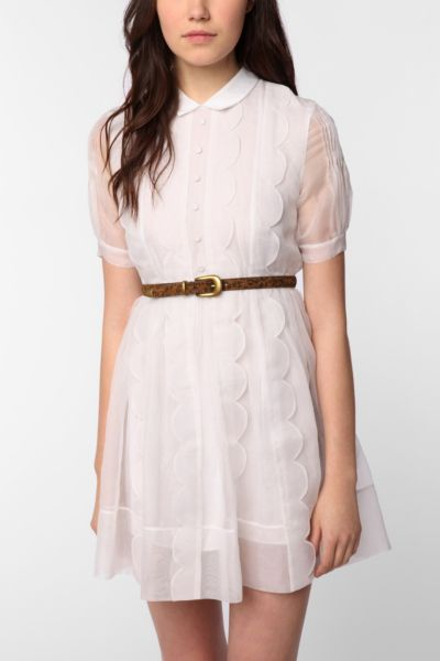 TBA Silk Scalloped Ella Dress