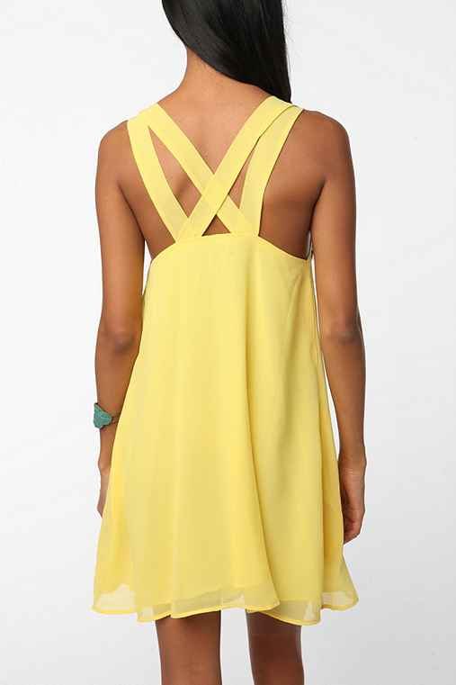 Lucca Couture Chiffon Tie Top Baby Doll Dress - Urban Outfitters