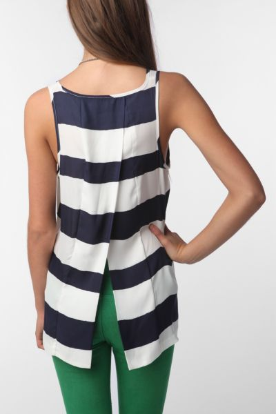 Jack By BB Dakota Stripe Tulip-Back Tank Top