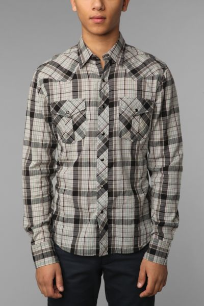 Salt Valley Long-Sleeved Macho Plaid Western Shirt