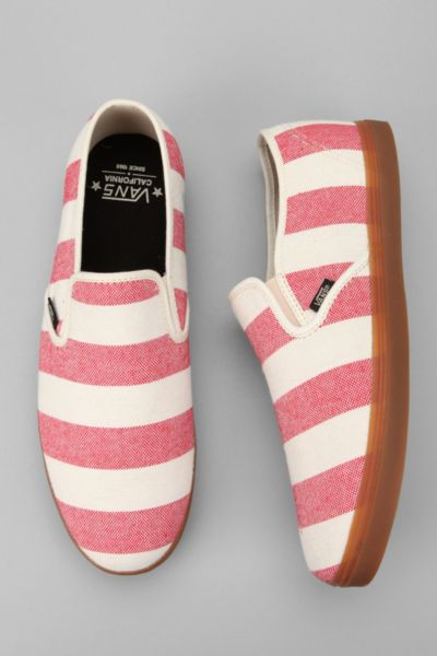 Vans California Striped Low Pro Slip-On Sneaker