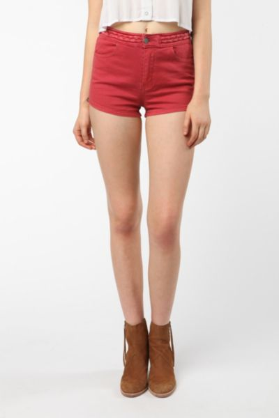 byCORPUS Braided Waist Denim Short