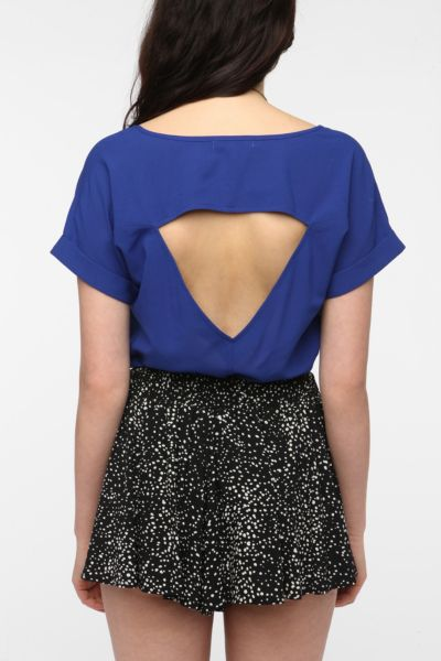 Lucca Couture Open-Back Blouse