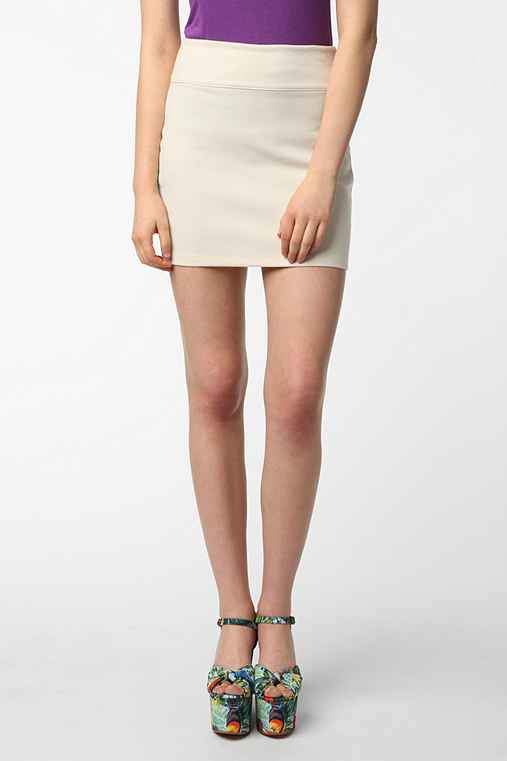 Silence + Noise High-Waist Ponte Skirt