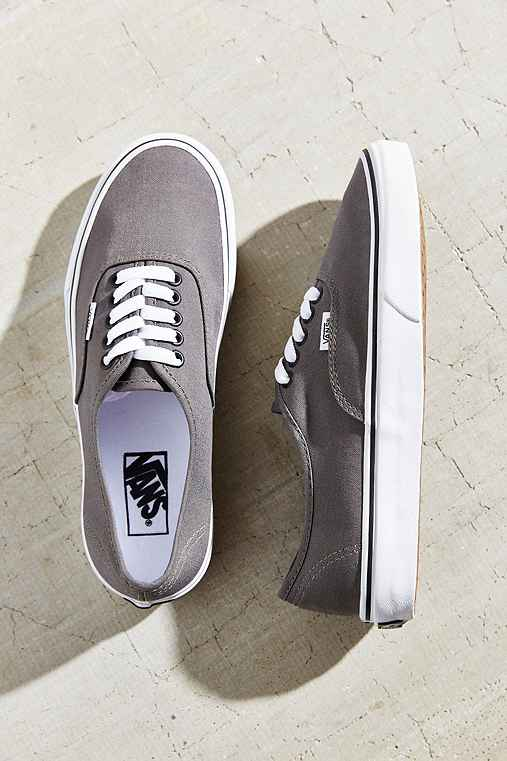 Vans Authentic Canvas Sneaker,GREY,W 6.5/M 5