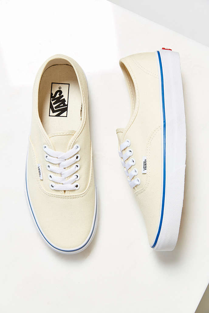 vans authentic canvas sneaker ivory