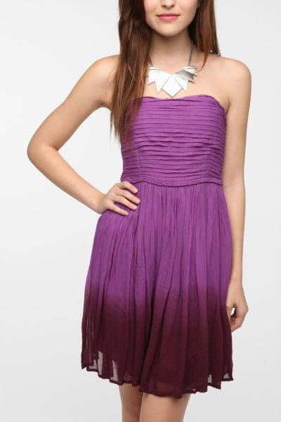 Staring at Stars Crepe Ombre Hem Dress