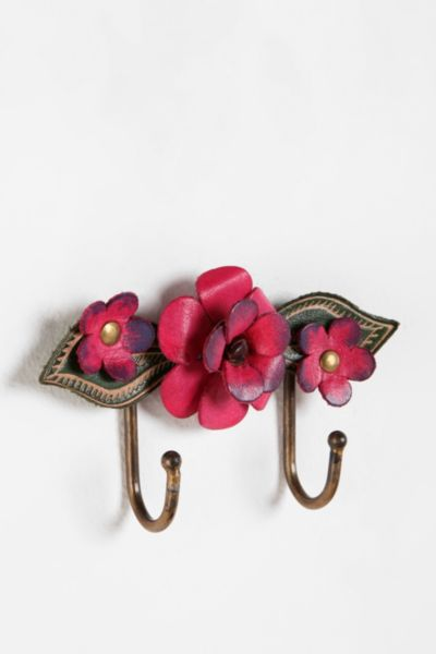 Leather Flower Hook