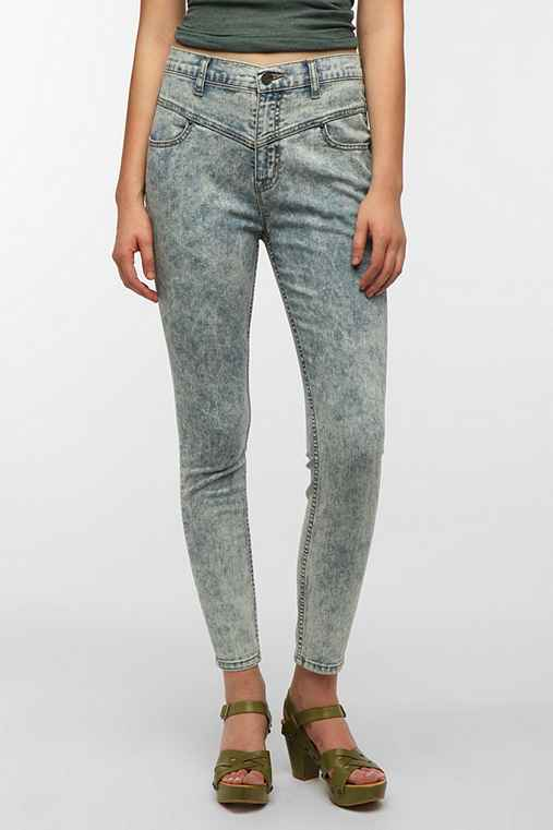 BDG Seamed High-Rise Jean - Light Blue