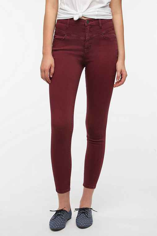 BDG Seamed High-Rise Jean - Wine
