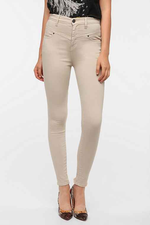 BDG Seamed High-Rise Jean - Putty