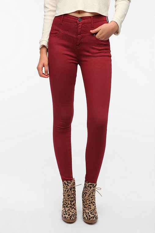 BDG Seamed High-Rise Jean - Red