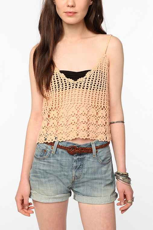 Staring at Stars Crochet Sweater Cami