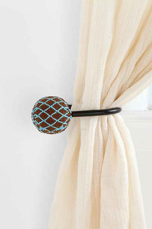 Beaded curtain tie back urban outfitters