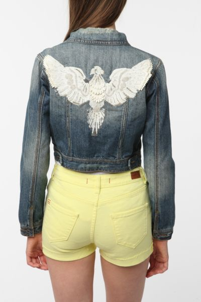 Staring at Stars Embellished Denim Jacket