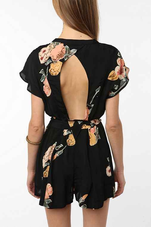 Staring at Stars Crepe Open-Back Romper