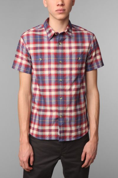 A.P.C. Madras Short-Sleeved Plaid Shirt