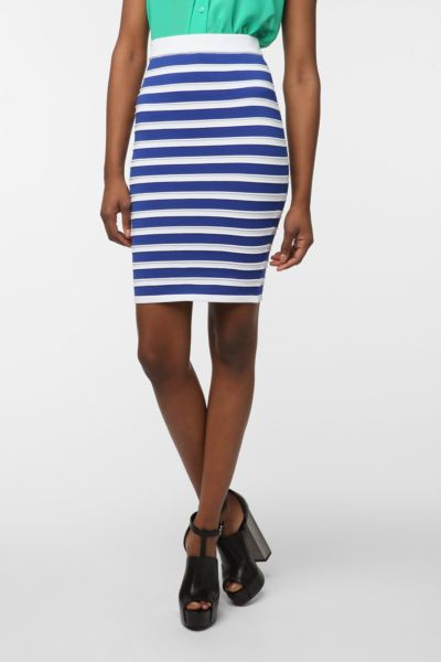 Sparkle & Fade Nautical Stripe Pencil Skirt