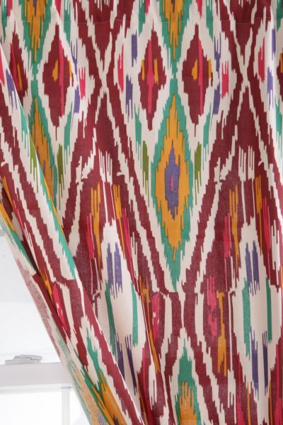Diamond Ikat Curtain