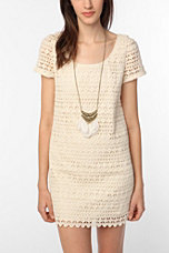 Crochet Perfection: Staring at Stars Crochet Mini Dress $79 from Urban Outfitters! featured on shopalicious.com