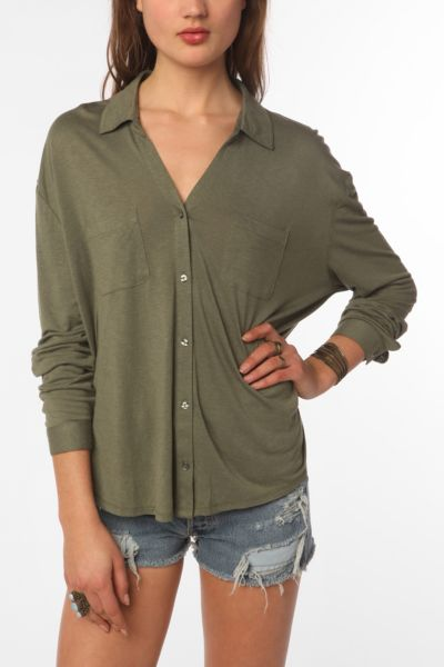 Staring At Stars Button-Down Knit Shirt