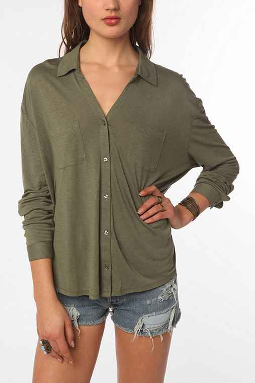 Staring at Stars Button-Down Knit Shirt - Urban Outfitters