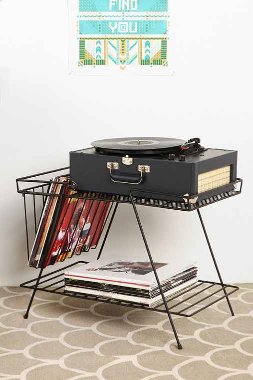 wire storage table urban outfitters. Black Bedroom Furniture Sets. Home Design Ideas