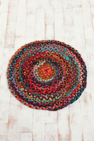 "36"" Round Chindi Braided Rug"