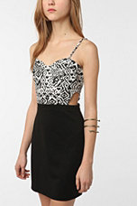 Lucca Couture Knit Cutout Printed Bodycon Dress