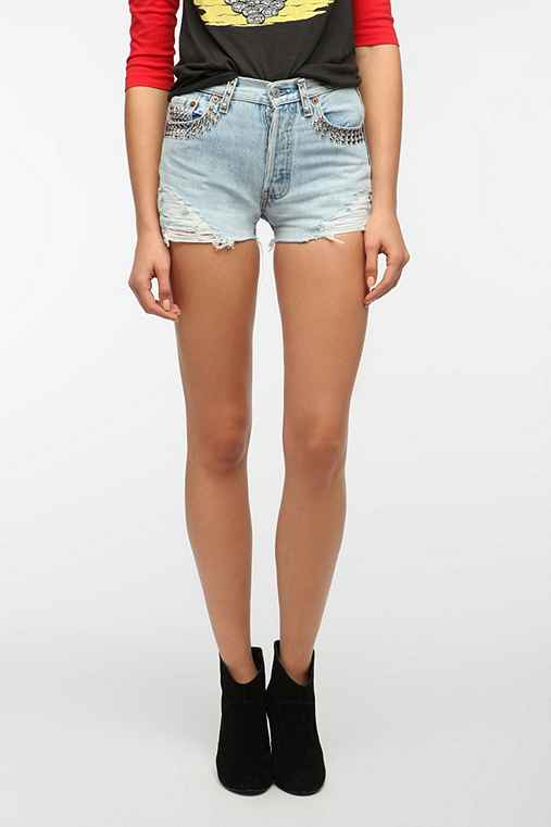 Urban Renewal Destroyed Studded Short