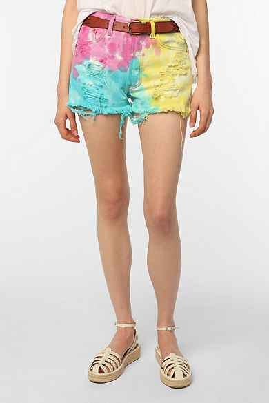 Urban Renewal Tie-Dye Jean Short