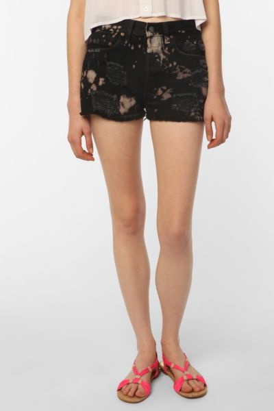 Urban Renewal Bleach Splatter Denim Short