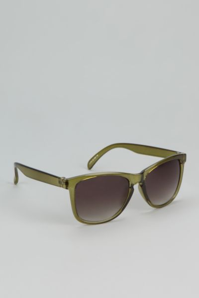 Tipped Mirror Wayfarer Sunglasses