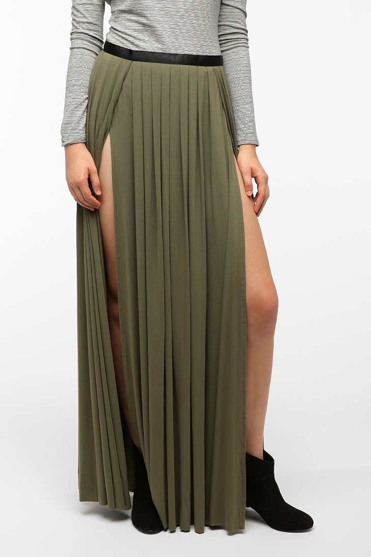 ecote slit maxi skirt outfitters