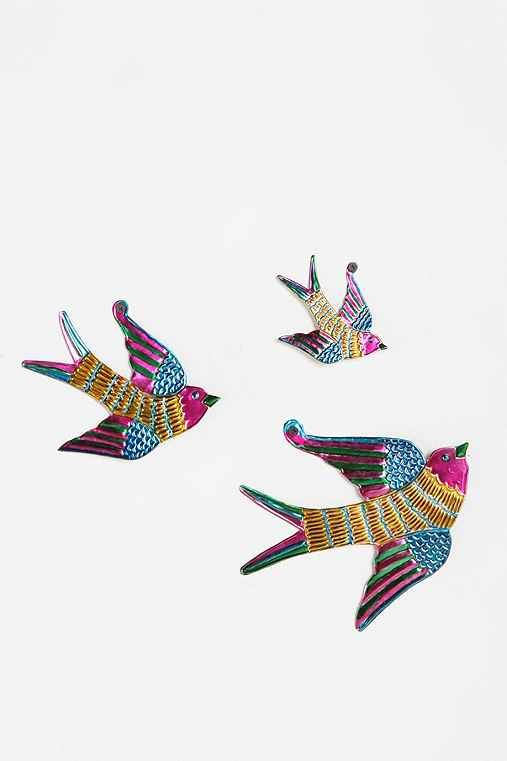 Thumbnail image for Tin Birds Sculpture Wall Art