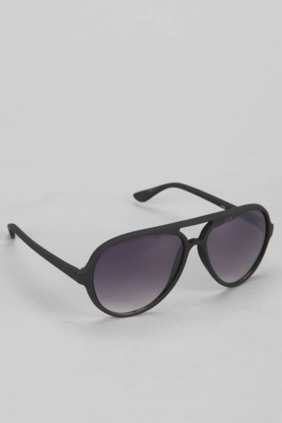 Rubberized Aviator Sunglasses