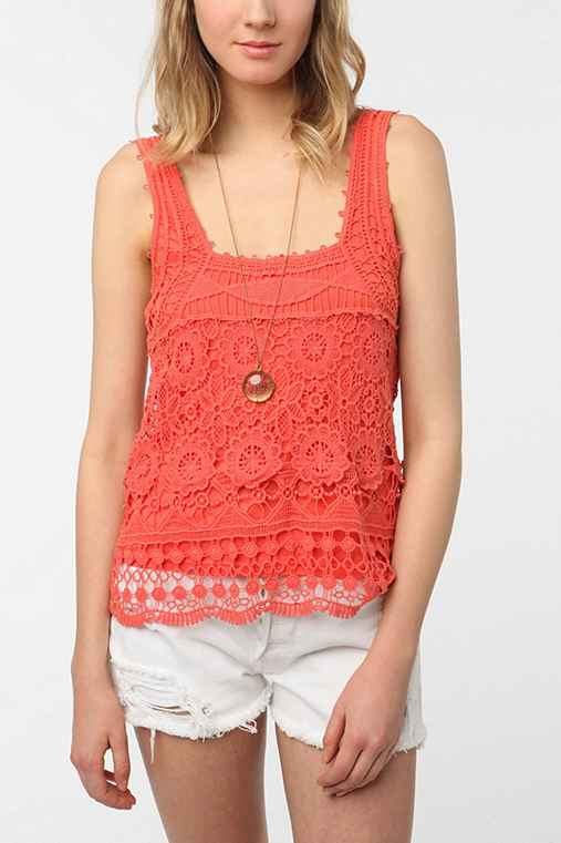 Pins and Needles Crochet Tank Top