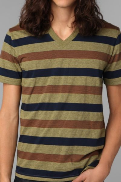 BDG Novel Widestripe V-Neck Tee