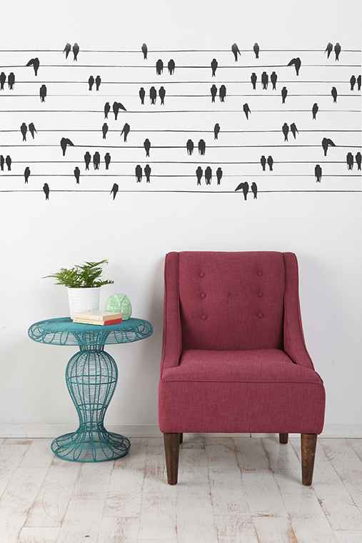 Anne Cahsens Birds on a Wire Wall Decal