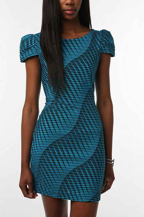 Silence & Noise Textured Knit Bodycon Dress